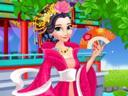 Elsa e Anna Vestidos Chineses