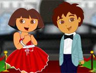 Vista Dora e Diego no Tapete Vermelho