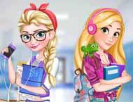 Elsa e Rapunzel Colegiais