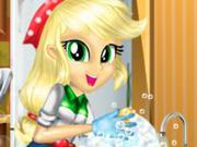 My Little Pony: Applejack Limpa a Cozinha