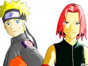 Colorir o Naruto e a Sakura