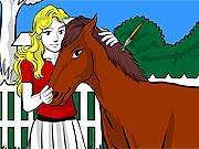 Pinte a Menina e Seu Cavalo