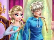 Elsa Prepara o Vestido do Jack Frost