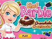 Chef Barbie Cozinha Cheesecake de Chocolate