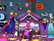 Frozen Arrumação no Halloween