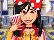 Vista e Maquie 4 Princesas na Disneylândia