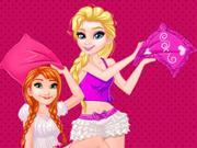 Anna e Elsa Festa do Pijama
