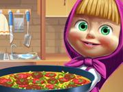 Masha Prepara Uma Pizza Especial