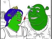 Pinte o Shrek e a Fiona