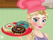 Princesa Elsa Prepara Donuts