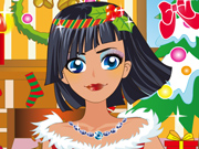 Uma Garota Bonita na Festa de Natal