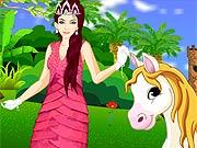 Vestir a Princesa para Passear com o Pônei
