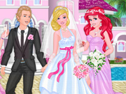Princesas Disney no Casamento da Barbie