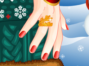 Manicure na Festa de Natal