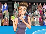 Vista a Menina Tenista