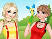 Elsa & Anna: Treinadoras de Pokémon